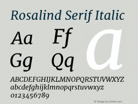 Rosalind Serif