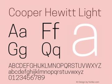 Cooper Hewitt Light 1.000 Font Sample