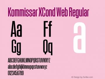 Kommissar XCond Web Regular Version 1.1 2011 Font Sample