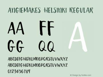 AngieMakes Helsinki Regular Version 1.000;PS 001.000;hotconv 1.0.70;makeotf.lib2.5.58329 DEVELOPMENT图片样张