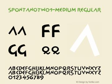 SpontanOTW01-Medium Regular Version 7.504 Font Sample