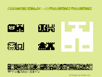 PEECOLPlayW95-Regular Regular Version 7.504 Font Sample