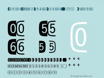 DoubleDigitsSuperSquareW95 Regular Version 7.504 Font Sample