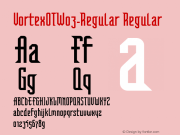 VortexOTW03-Regular Regular Version 7.504 Font Sample
