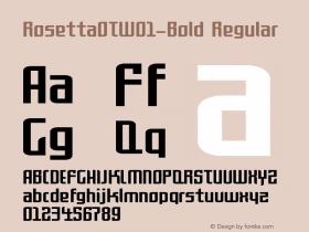 RosettaOTW01-Bold Regular Version 7.504 Font Sample
