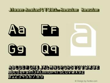 JiggerAngledOTW01-Regular Regular Version 7.504 Font Sample