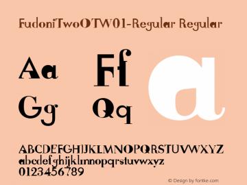 FudoniTwoOTW01-Regular Regular Version 7.504 Font Sample