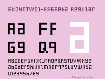 EboyOTW01-REGBeta Regular Version 7.502 Font Sample
