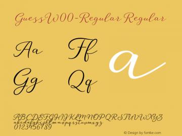GuessW00-Regular Regular Version 1.00 Font Sample