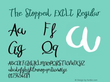 The Stopped ExtLt Regular Version 1.000;PS 001.001;hotconv 1.0.56 Font Sample