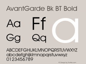 AvantGarde Bk BT Bold mfgpctt-v1.52 Tuesday, January 12, 1993 3:55:26 pm (EST) Font Sample