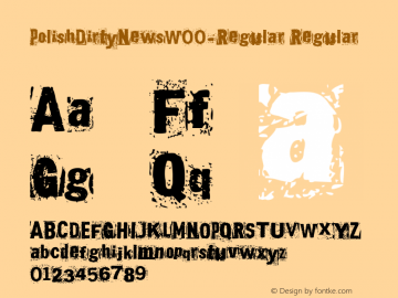 PolishDirtyNewsW00-Regular Regular Version 1.00 Font Sample