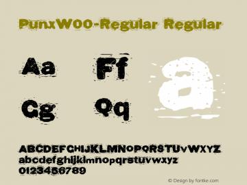 PunxW00-Regular Regular Version 1.00 Font Sample