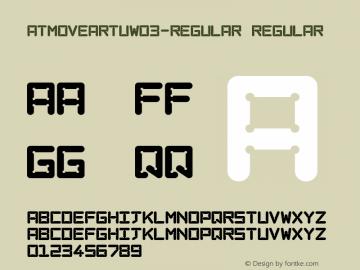 ATMoveArtuW03-Regular Regular Version 1.00图片样张
