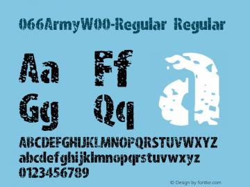 066ArmyW00-Regular Regular Version 1.00 Font Sample