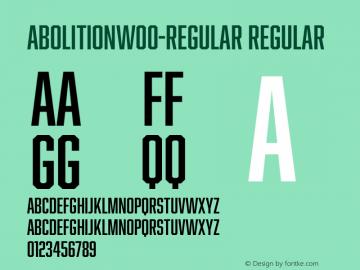 AbolitionW00-Regular Regular Version 2.10图片样张