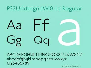 P22UndergndW10-Lt Regular Version 1.00 Font Sample