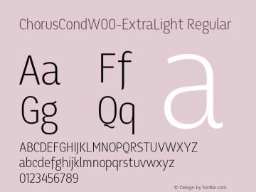 ChorusCondW00-ExtraLight Regular Version 1.10图片样张