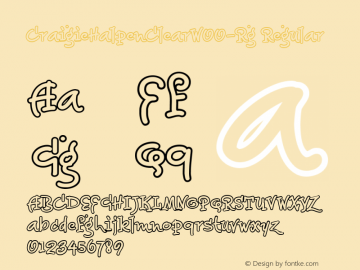 CraigieHalpenClearW00-Rg Regular Version 1.00 Font Sample