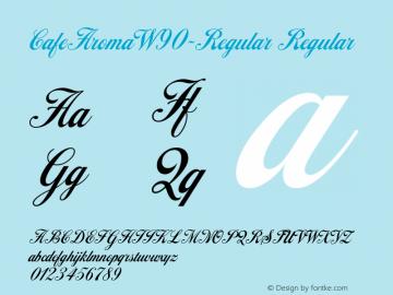 CafeAromaW90-Regular Regular Version 1.00 Font Sample