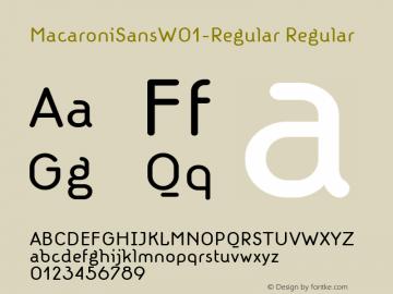 MacaroniSansW01-Regular Regular Version 1.00 Font Sample