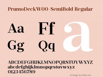 PrumoDeckW00-SemiBold Regular Version 1.10 Font Sample