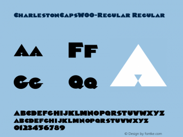 CharlestonCapsW00-Regular Regular Version 1.00 Font Sample
