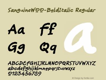 SanguineW00-BoldItalic Regular Version 1.00图片样张