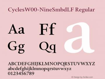 CyclesW00-NineSmbdLF Regular Version 1.1图片样张