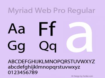 Myriad Web Pro Font,Myriad Web Pro Regular Font,MyriadWebPro Font