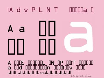 SAdvPLNT Regular 2001L (Visit www.BizFonts.com for info) Font Sample