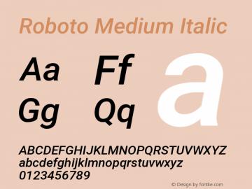 Roboto Medium Italic Version 2.133图片样张