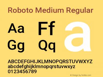 Roboto Medium Regular Version 2.133图片样张