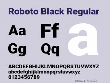 Roboto Black Regular Version 2.133图片样张
