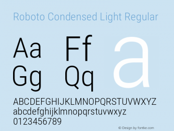 Roboto Condensed Light Regular Version 2.133图片样张