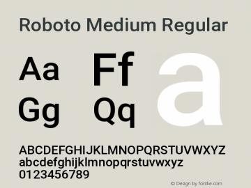 Roboto Medium Regular Version 2.133; 2016图片样张