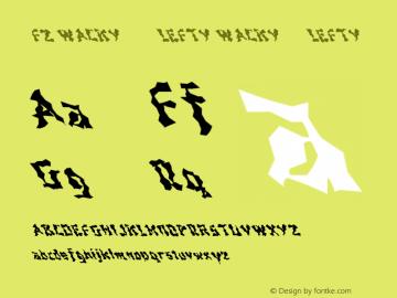 FZ WACKY 44 LEFTY WACKY44LEFTY Version 1.000 Font Sample