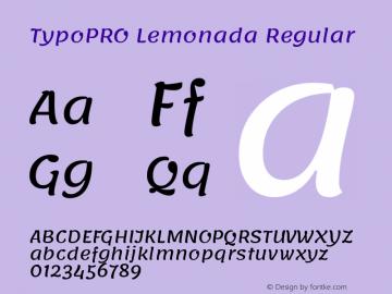 TypoPRO Lemonada Regular Version 3.006;PS 003.006;hotconv 1.0.88;makeotf.lib2.5.64775图片样张