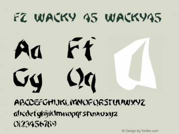FZ WACKY 45 WACKY45 Version 1.000 Font Sample
