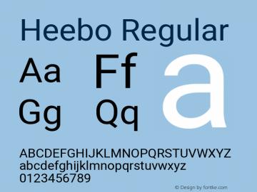 Heebo Regular Version 2.002 Font Sample