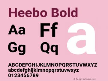 Heebo Bold Version 2.002;PS 002.002;hotconv 1.0.88;makeotf.lib2.5.64775 Font Sample