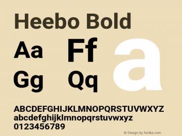 Heebo Bold Version 2.002 Font Sample