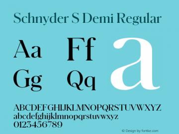 Schnyder S Demi Regular Version 1.1 2013图片样张
