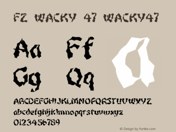 FZ WACKY 47 WACKY47 Version 1.000 Font Sample