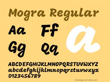 Mogra Regular Version 1.000;PS 1.0;hotconv 1.0.81;makeotf.lib2.5.63406 Font Sample