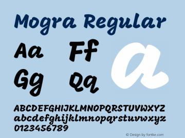 Mogra Regular Version 1.000 Font Sample