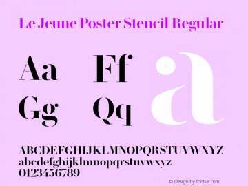 Le Jeune Poster Stencil Regular Version 1.1 2016图片样张