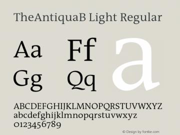 TheAntiquaB Light Regular 001.000 Font Sample