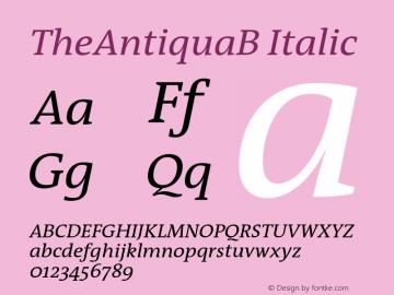 TheAntiquaB Italic 001.000 Font Sample