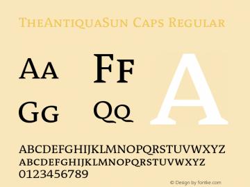 TheAntiquaSun Caps Regular 001.001 Font Sample